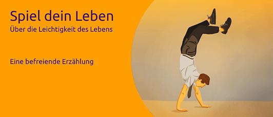 """Buch """"Spiel dein Leben"""" Banner"""
