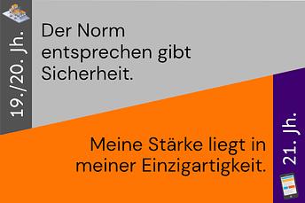 """Reframing-Karte: """"Der Norm entsprechen gibt Sicherheit"""" vs. """"Meine Stärke liegt in meiner Einzigartigkeit"""""""
