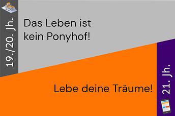 """Reframing-Karte: """"Das Leben ist kein Ponyhof! vs. """"Lebe deine Träume"""""""