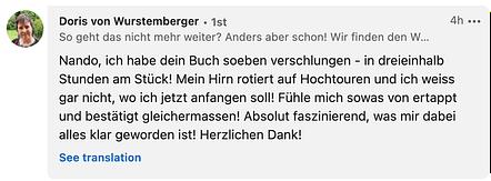 """Testimonial von Doris von Wurstemberger für """"Spiel dein Leben"""""""